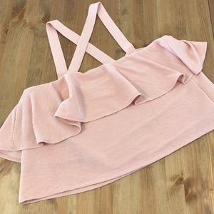 Madewell Tops - Madewell Texture & Thread Tiered Tank Top Pink